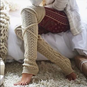 Accessories - Boho indie long leg warmers tie wrap festival rave